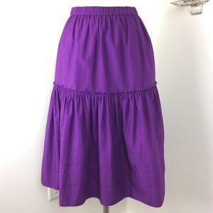 DKNY Beautiful Pleated Purple Skirt Size (10)